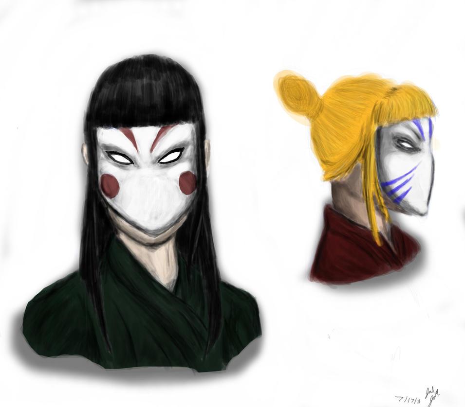 Masks Painting by mistformsquirrel