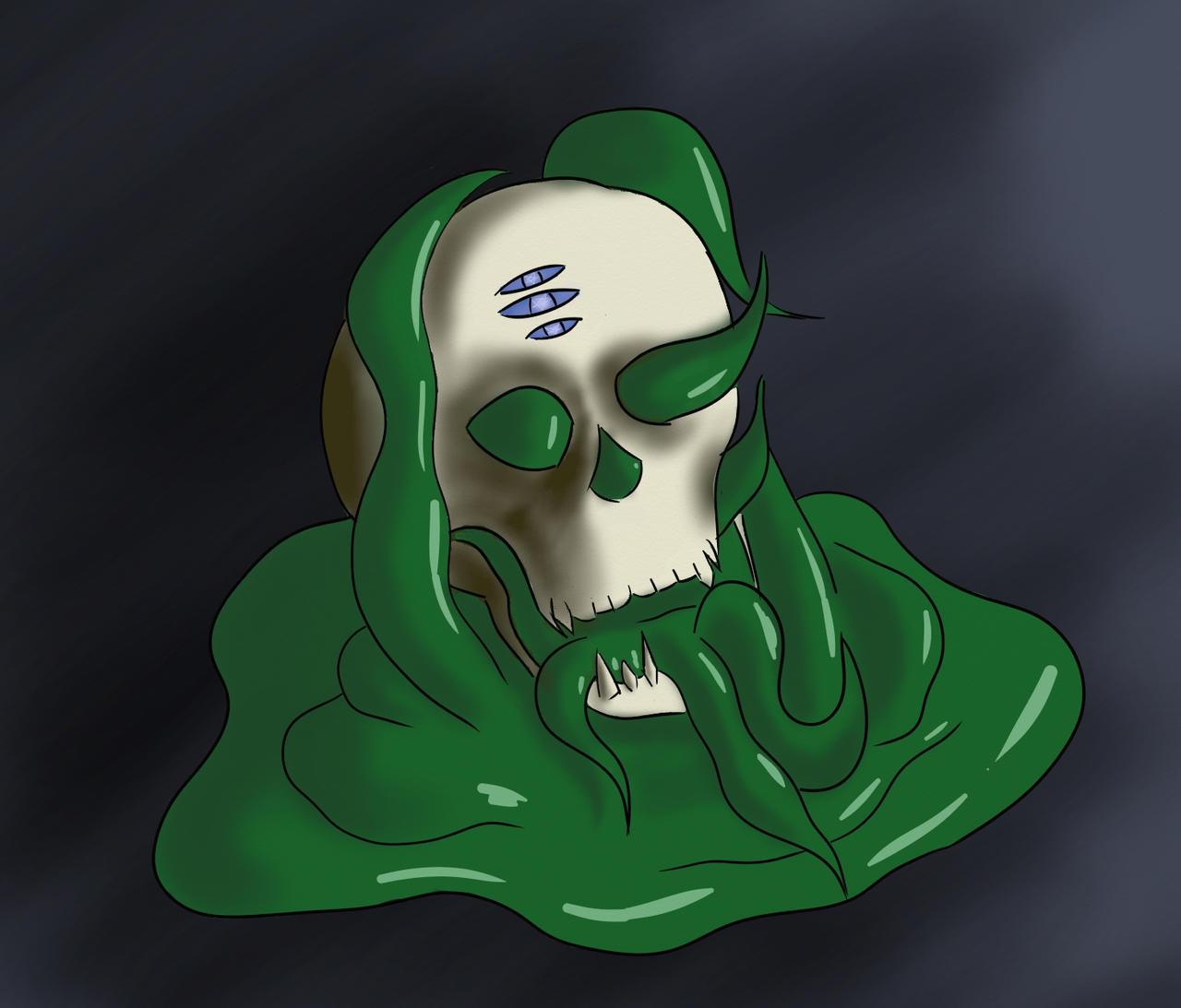 Pathfinder Monster - Skullslime by mistformsquirrel