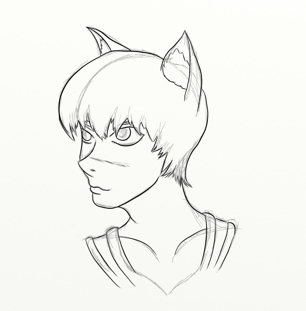 Quick Catboy WIP by mistformsquirrel