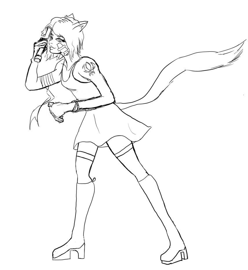 Yumi as Shadowrunner (Pre-Runner Days) (WIP) by mistformsquirrel