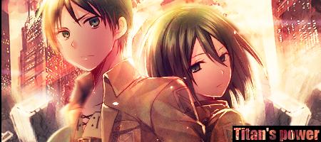 Mikasa / Eren Shingeki no kyojin by WeriaTenshi