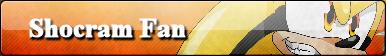 Shocram the Hedghehog Button by X-A-K