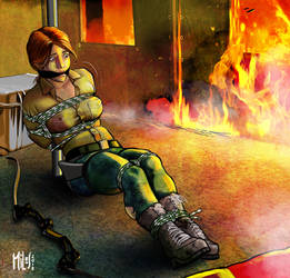 Lara in trouble.Big trouble. by Goodguy1965