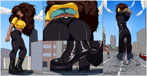 She Dominates - Giantess by Sector316