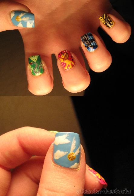 harry potter nails by xtheungodx