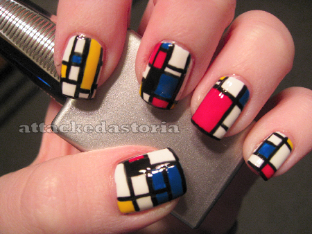piet mondrian inspired nails by xtheungodx on deviantart. Black Bedroom Furniture Sets. Home Design Ideas