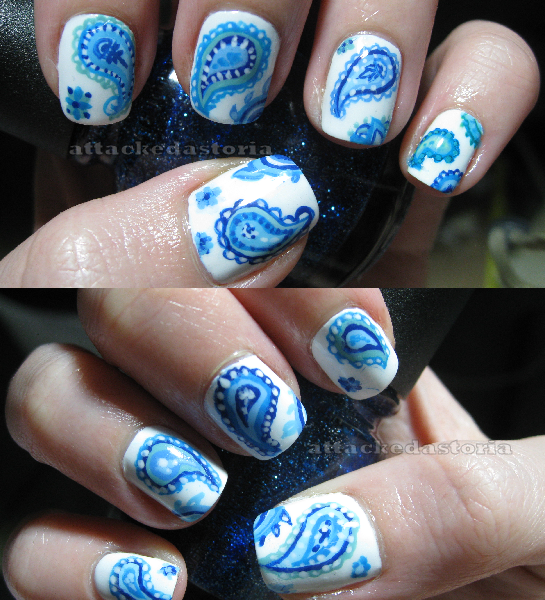 Blue Paisley Nails By Xtheungodx On DeviantArt