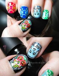 sugar skulls nails 2 by xtheungodx