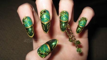 loki inspired nails