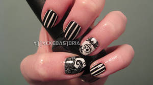nightmare before christmas nails by xtheungodx
