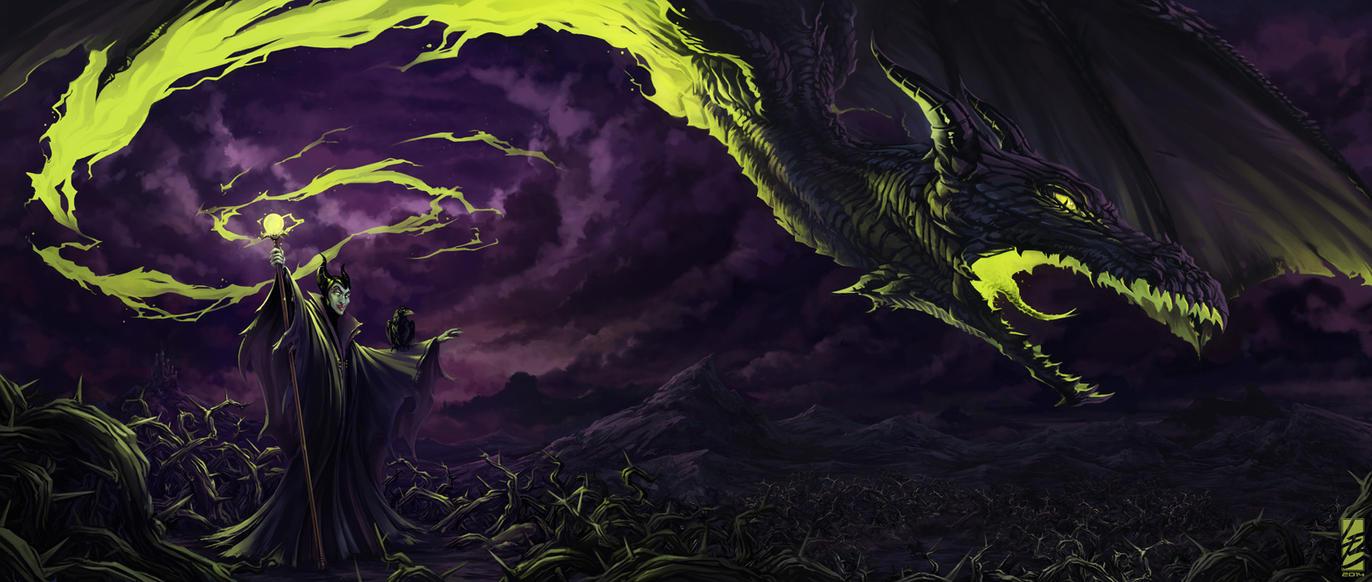 Maleficent Dragon Wallpaper [Fanart] Maleficent's ...