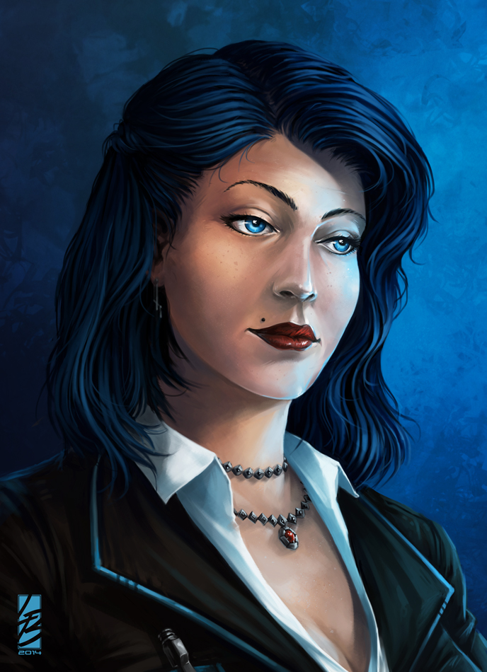 Commission #3 - Ms Blue by LauraBevon