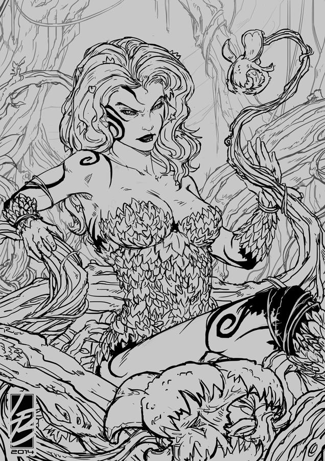 Ink - Poison Ivy by LauraBevon