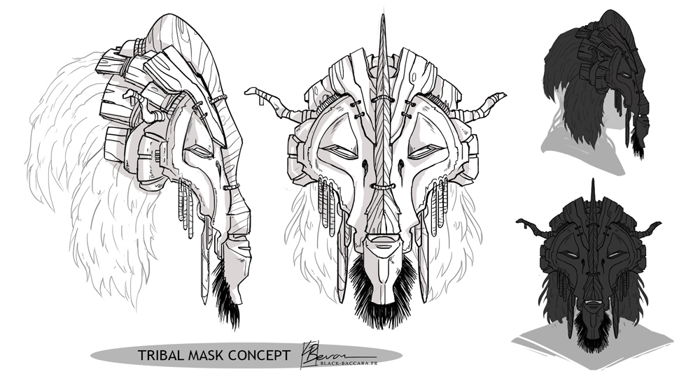 Triba Mask Concept by LauraBevon