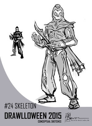 DH24 skeleton by laurabevon by LauraBevon