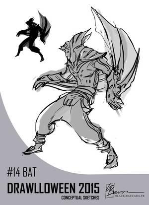 DH14 bat by laurabevon by LauraBevon
