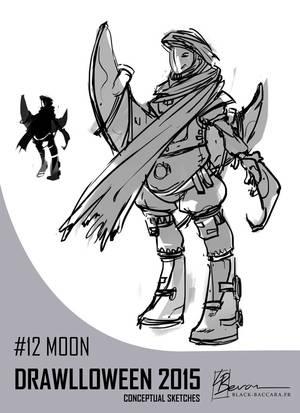 DH12 moon by laurabevon by LauraBevon