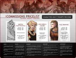 Commissions - Pricelist 2016