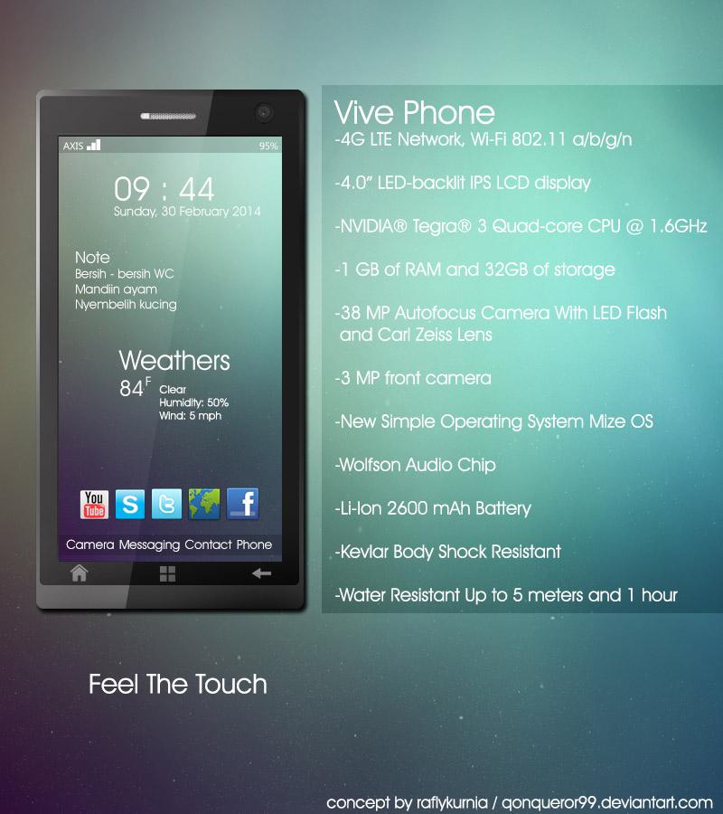 Vive Phone + Mize OS Concept by Qonqueror99
