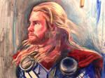 80's wrestlemania style Thor - Chris Hemsworth