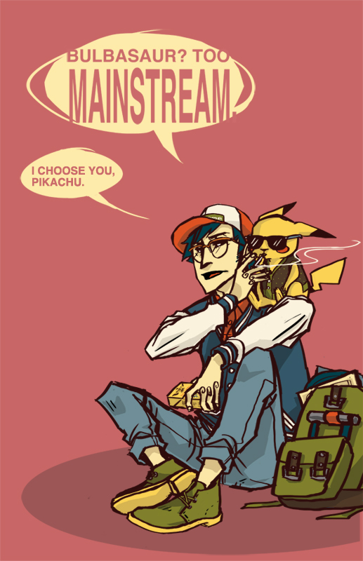 HIPSTERS - Ash Ketchum by autis