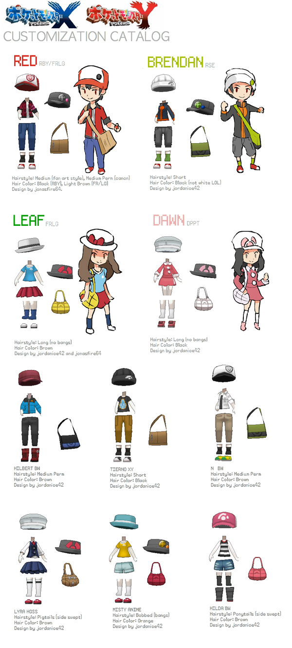 Pokemon And Y Anime Characters Names : Pokemon xy character customization catalog by hyo oppa on