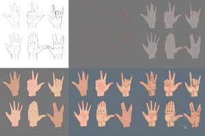 Hands practice (part 1) by itsveeel