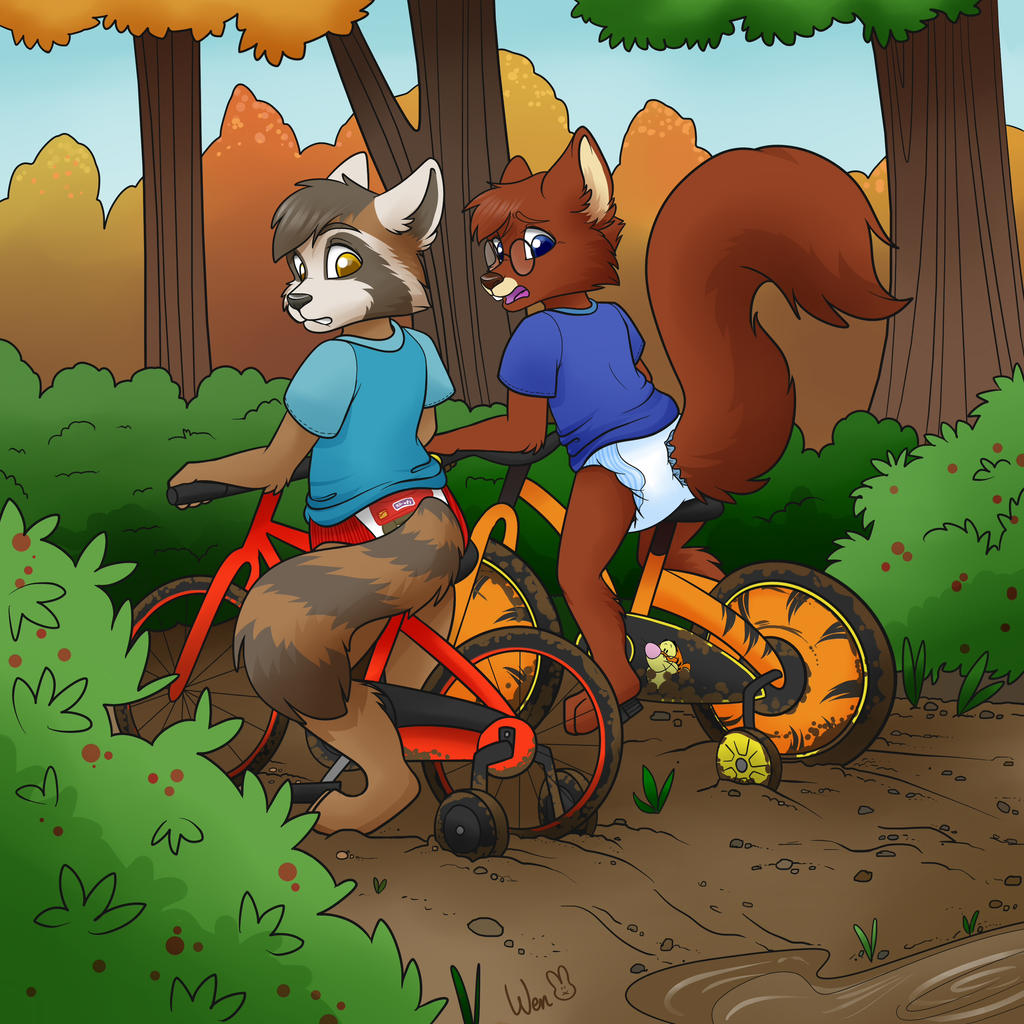 Training pants and Training wheels by Foxfan1992