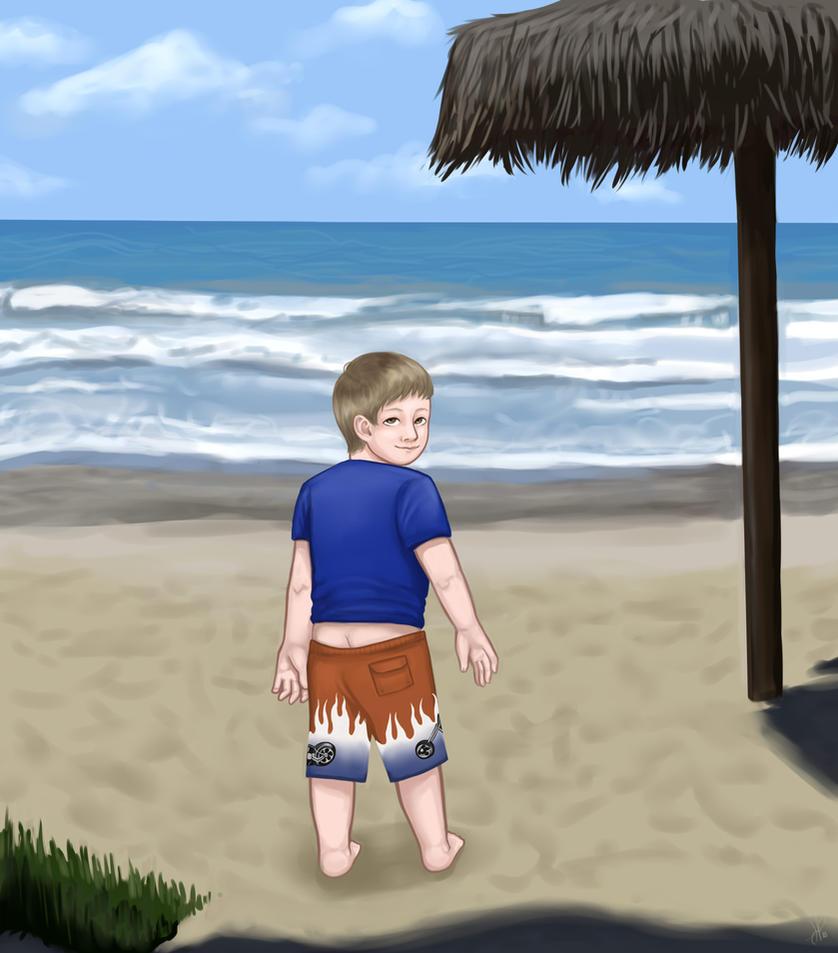 Timothy on San Clemente Beach by Foxfan1992