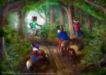 Stuck In The Woods by Foxfan1992