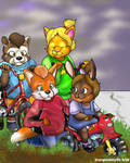 Big Brothers To Little Sisters - Stuck Trike by Foxfan1992