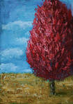 Abstract red tree