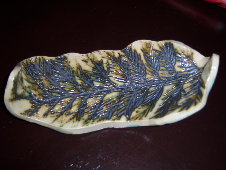 Clay Leaf Bowl 4 by NINJAWERETIGER