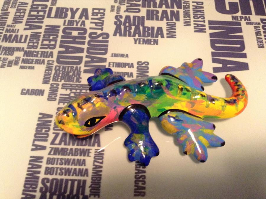 Ceramic Rainbow Lizard 1 by NINJAWERETIGER