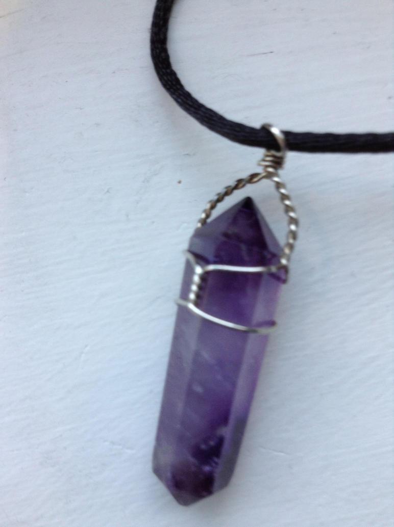Purple Amethyst Necklace by NINJAWERETIGER