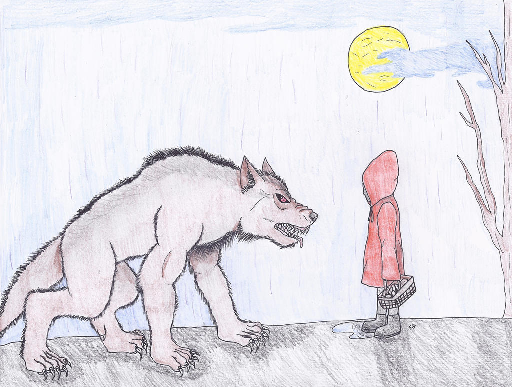 Little Red Riddinghood and the Werewolf by NINJAWERETIGER
