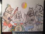 Werewolf Rock Band by NINJAWERETIGER