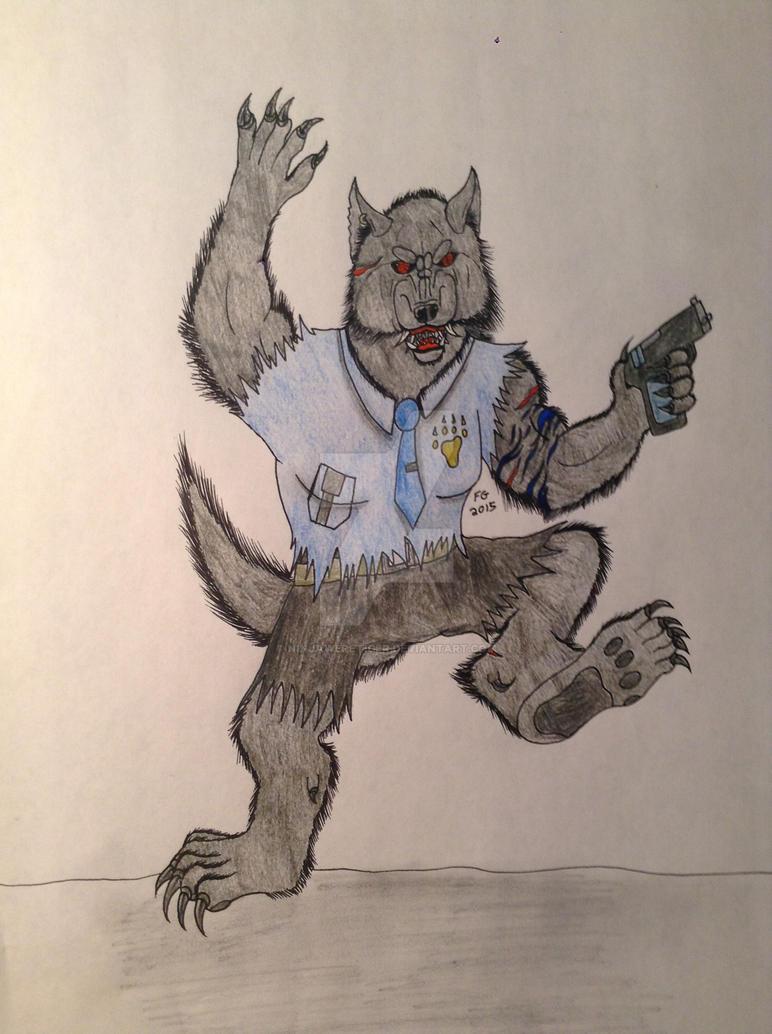 Werewolf Cop by NINJAWERETIGER