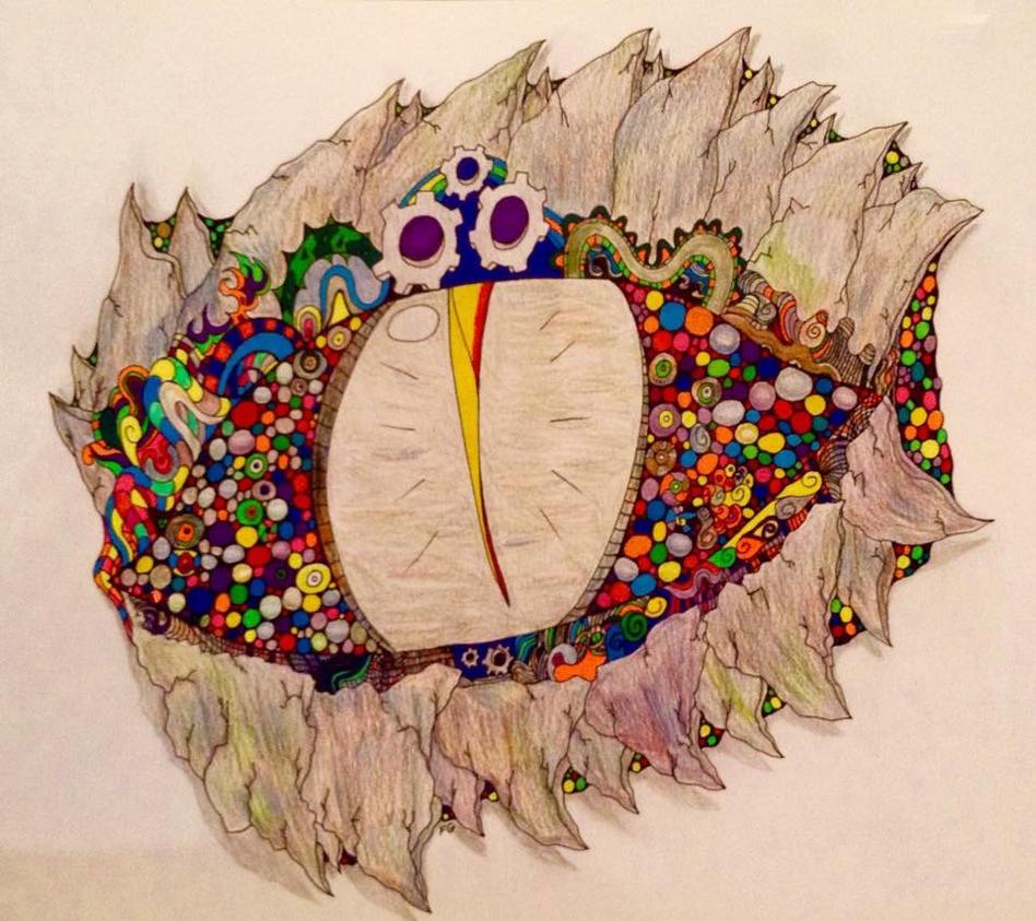 Rainbow Dragon Eye by NINJAWERETIGER