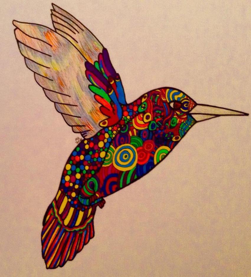 Zendoodle Hummingbird by NINJAWERETIGER