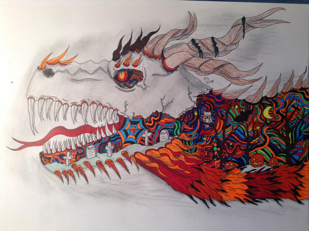 Zendoodle Halloween Dragon by NINJAWERETIGER