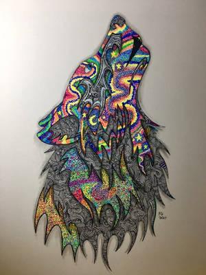 Northern Howl Wolf by NINJAWERETIGER
