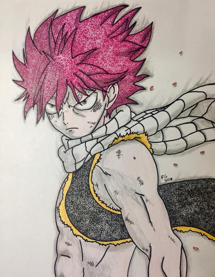 Natsu Fairy Tail Fanart by NINJAWERETIGER