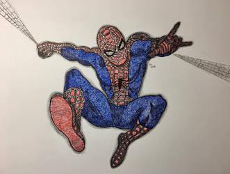 Spider-Man Pointillism by NINJAWERETIGER