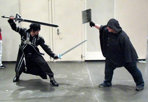 Kirito vs Laughing Coffin PK