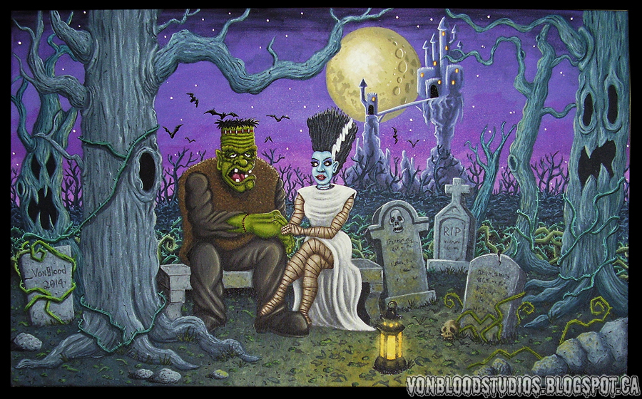 In The Graveyard (Painting) by vonblood