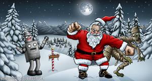 Santa vs the Aztec Mummy