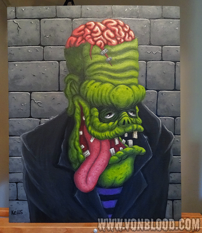 Frankenfink (painting) by vonblood