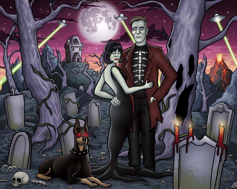 Graveyard Couple Digital by vonblood