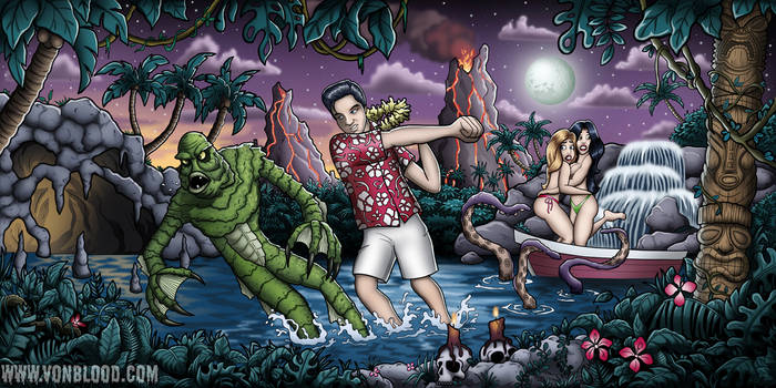 Elvis vs the Creature From the Black Lagoon.